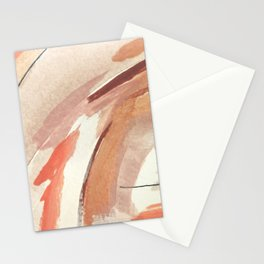 Aly: minimal | pinks | white | black | mixed media | abstract | ink | watercolor | wall art Stationery Cards