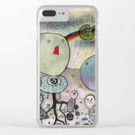 """Birds"" illustration Clear iPhone Case"