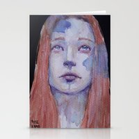 redhead Stationery Cards featuring Redhead by SirScm