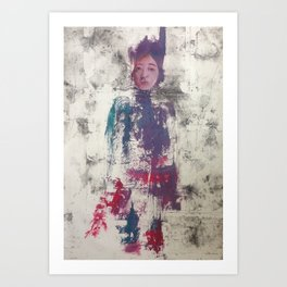 Alexa. Oil on Collagraph Print by Jain McKay. Art Print