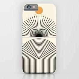 Abstraction_SUNLIGHT_SUNRISE_LINE_POP_ART_0993A iPhone Case