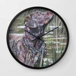 the Chesapeake Bay Retriever dog art from an original painting by L.A.Shepard Wall Clock
