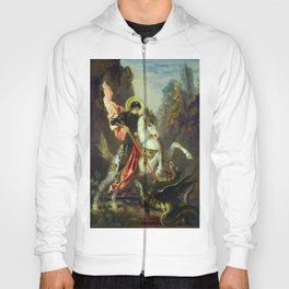 """Gustave Moreau """"St. George and the Dragon (1889)"""" Hoody"""