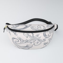 Vector fashion pattern with classic Victorian swirls and flourishes Fanny Pack