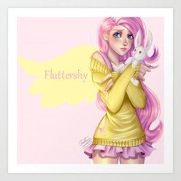 Human Fluttershy Art Print