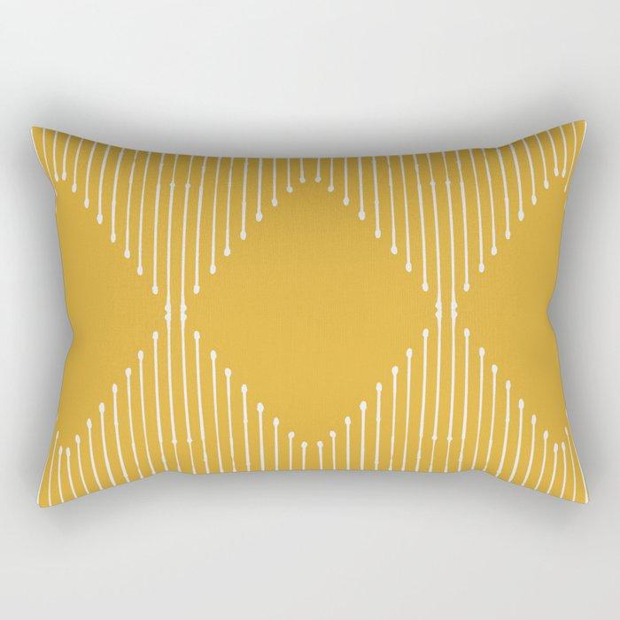 Geo / Yellow Rechteckiges Kissen