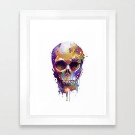 colorful skull Framed Art Print