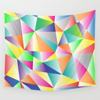 kaleidoscope Wall Tapestries featuring Kaleidoscope  by Miss L in Art