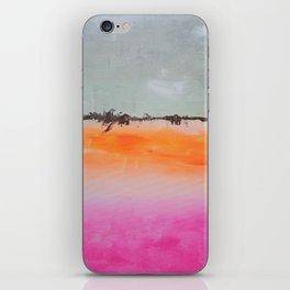 Pink Orange Gray Black Minimalist Abstract iPhone Skin
