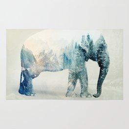 Vanishing Elephant  Rug