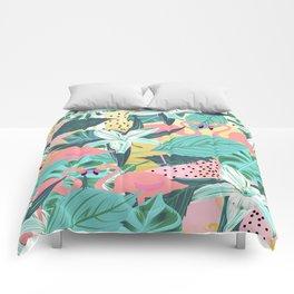 Flamingo Tropical #society6 #decor #buyart Comforters