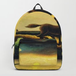 Classical Masterpiece 'The Race' - Horse and Train by Thomas Hart Benton Backpack