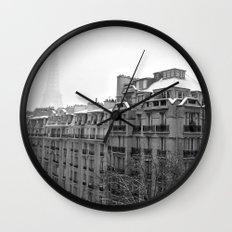 Paris Snow Wall Clock