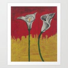 Sunshine Daffodils Handpainted  Art Print