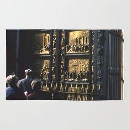 Vintage Color Photo * Kodachrome * 1950's * Paradise Doors * Florence * Italy * Italian Rug