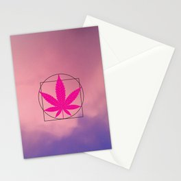 vitruvian marijuana Stationery Cards
