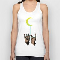 the moon Tank Tops featuring MOON by GENO