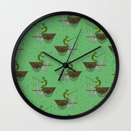 carrot on a stick (tortoise and the hare) Wall Clock