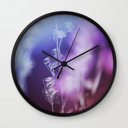 VIOLET BOTANICAL I Wall Clock