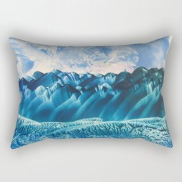 Fantasy Turquoise and Teal Landscape Rectangular Pillow