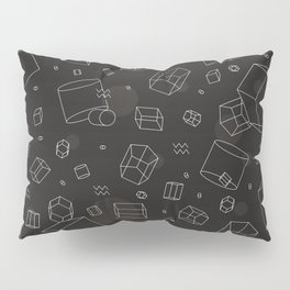 Third Dimensional Pattern: Dark Pillow Sham