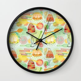Fruity Fun Jelly Desserts Wall Clock