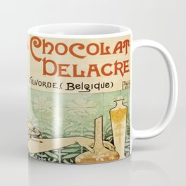 Vintage poster - Biscuits and Chocolat Delacre Coffee Mug
