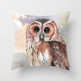 """""""No post on sundays"""" - Owl in the snow Throw Pillow"""