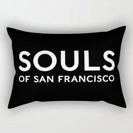 Souls of San Francisco - White Text/Black Background Rectangular Pillow
