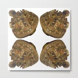 Fractal Art - Golden Pyramid Metal Print