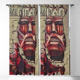 New York City, Manhattan, wall mural Attack On Titan, graffiti (2019-GNY12) Blackout Curtain