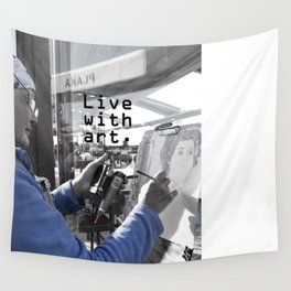 live with art Wall Tapestry