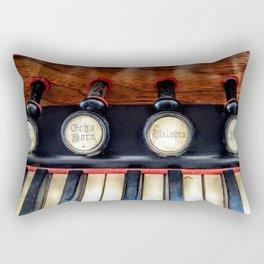 Antique Organ Stops and Piano Keys Photograph Rectangular Pillow