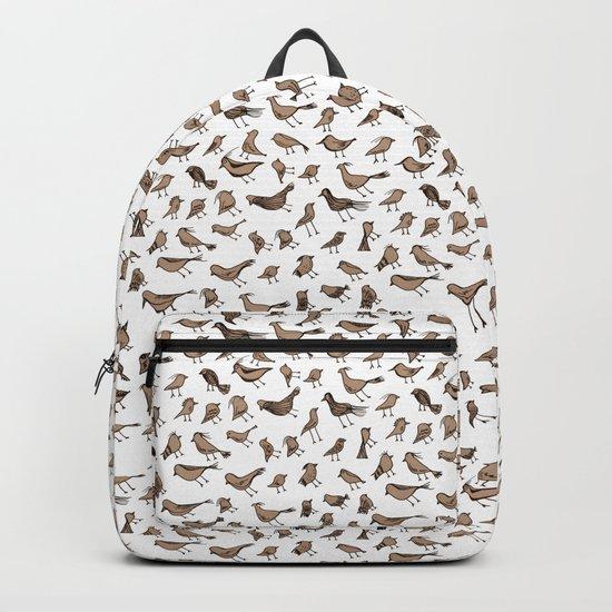 Grey birds Backpack