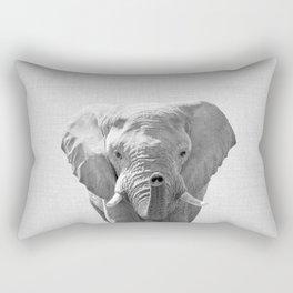 Elephant - Black & White Rectangular Pillow
