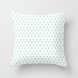 Minty Leaves Throw Pillow