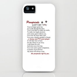 Forever On My Heart (pawprints) iPhone Case