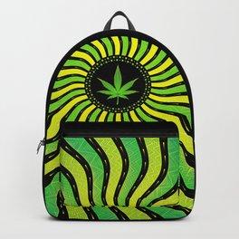 Marijuana energy | Sacred geometry mandala Backpack