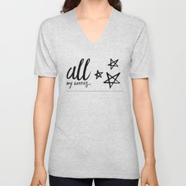All my worries… Unisex V-Neck
