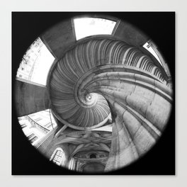 The spiral staircase in the Renaissance castle Hartenfels in Torgau / Saxony Canvas Print