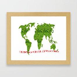 world peas Framed Art Print