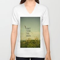 photograph V-neck T-shirts featuring Travel Like A Bird Without a Care by Olivia Joy StClaire