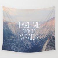yosemite Wall Tapestries featuring Yosemite Paradise  by Tara Yarte