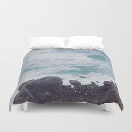 Blue Ocean - Seals on Rocks Duvet Cover