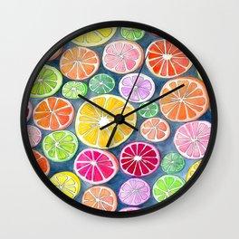 Citrus Painting Wall Clock