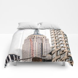 Empire State Building in New York Comforters