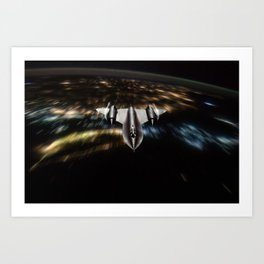 SR-71 Blackbird Art Print