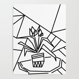 Flowers on the window -coloring Poster