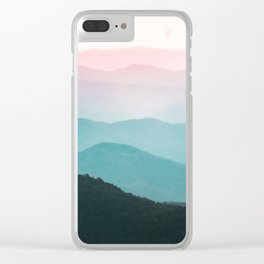 Smoky Mountain National Park Sunset Layers III - Nature Photography Clear iPhone Case