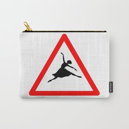 Ballerina Crossig Sign Carry-All Pouch